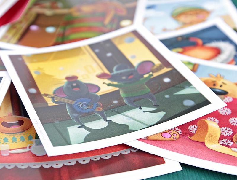 Set de postales Navidad