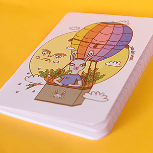 Mini libreta sobre las nubes