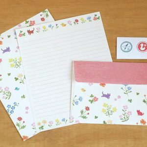 Tarjetas Kitty & Flower