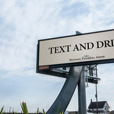 """Text and drive"""