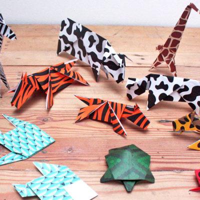 """Workshop """"Móvil de Origami – Animal Print"""" con Pasajeros de papel – Sábado 23 de julio"""