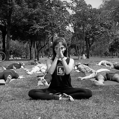 Fotos sesión de yoga con María Omaña