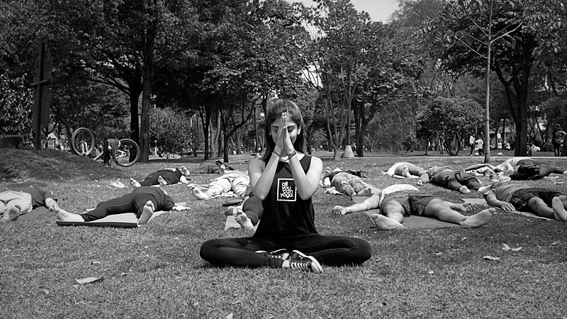 Sesión de yoga con María Omaña