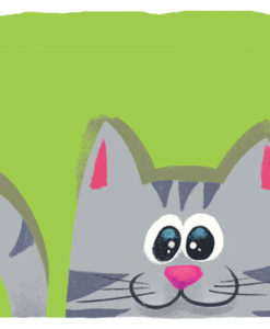 Postal gato verde