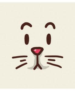 Postal gato cara