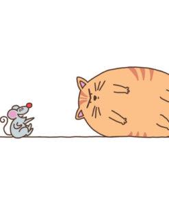 Postal gato glotón