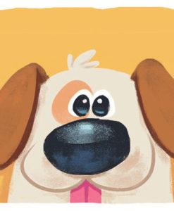 Postal perro amarillo