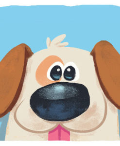 Postal perro azul