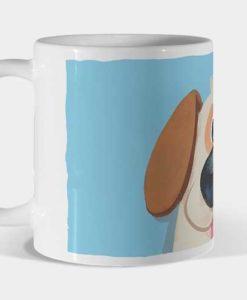 Mug perro azul