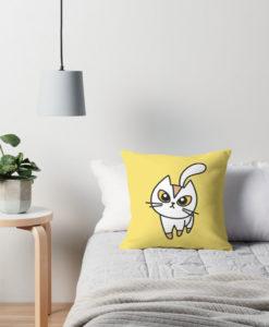 Cojín Gato amarillo