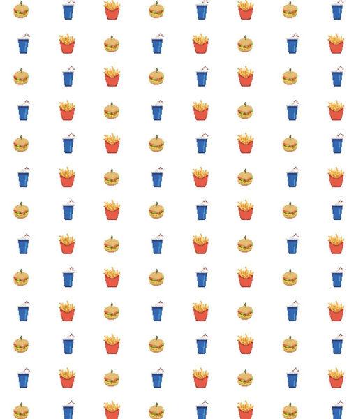 Cojín Patrón comida pixel