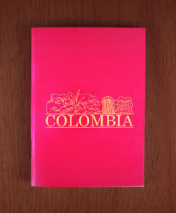 Mini libreta Colombia roja