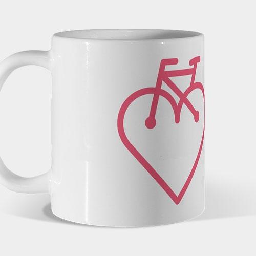 Mug bici corazón